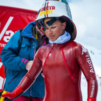 Valentina Greggio alla partenza della gara a Vars